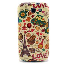 Caso di TPU lucido Torre Eiffel e Pane per Samsung Galaxy S3 I9300 – EUR € 4.79
