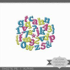 (alphabet complet en 3 couleurs)