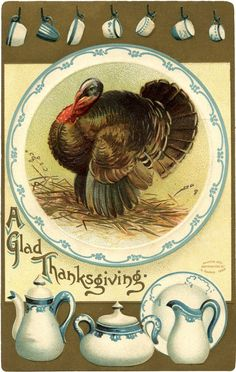7 Thanksgiving Postcards with a Turkey!