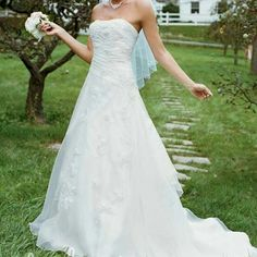 3bda3cce17c David s bridal embroidered oraganza wedding gown
