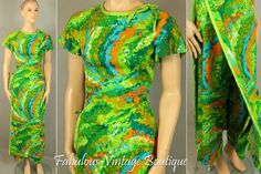RARE V intage 60s KAMEHAMEHA Hawaii Bright 2pc Set Maxi Long Florida Events, Hawaii Dress, Caftan Dress, Dresses For Sale, Short Sleeve Dresses, Bright, Trending Outfits, Dress Ideas, Pants