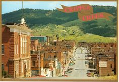 Souvenir postcard from Cripple Creek, Colorado.