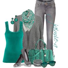 Teal & Gray 2 - Polyvore