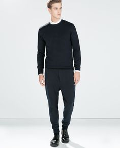 ZARA - MAN - TROUSERS WITH CONTRAST DETAILING