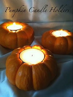 DIY Pumpkin Candles