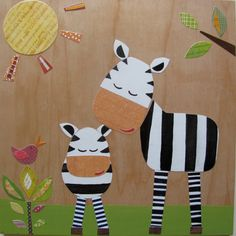 DIY nursery art idea