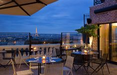 Terrass'' Hotel Montmartre by MH in Paris Restaurants In Paris, Paris Hotels, Restaurant Paris, Rooftop Restaurant, Romantic Restaurants, Rooftop Lounge, Restaurant Design, Voyage Air France, Hotel Montmartre