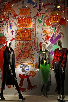"Bergdorf Goodman, NYC,""Three Girls About Town"", pinned by Ton van der Veer"