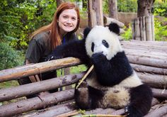 Bonnie Wright visited and got to feed some baby Pandas at the Chengdu Panda Base in China (a non-profit breeding facility aiming to conserve the population of rare giant pandas)