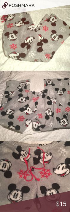 MICKEY MOUSE PJ BOTTOMS The one and only fuzzy micky mouse bottoms are here! In size medium!!  Bundle and save! Intimates & Sleepwear Pajamas
