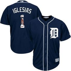 76ef5b044d8 Detroit Tigers Cool Base MLB Custom Blue Logo Jersey