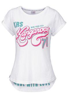 Kangaroos T-Shirt im Online Shop von Ackermann Versand Im Online, Kangaroos, Casual Jeans, Woman, Mens Tops, Clothes, Shopping, Fashion, Stall Signs