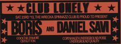 23.11.2013 @ CLUB LONELY w/ BORIS & DANIEL SAVI Flyer: Martin