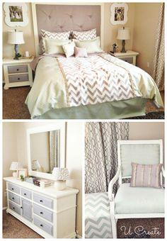 Ucreate Bedroom Makeover. I'm totally inspired by this design!!