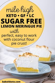My favorite recipe for keto lemon meringue pie (it's also sugar free and gluten free). Very easy for a homemade pie!