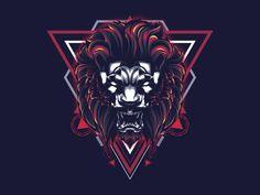 Lion Sacred Geometry designed by Secondsyndicate Studio. Connect with them on Dribbble; Graphic Design Print, Design Art, Logo Design, Lion Illustration, Geometric Tattoo Design, Dark Artwork, Dark Wallpaper Iphone, Fox Print, Cyberpunk Art