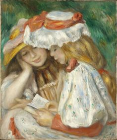 pierre-auguste-renoir-two-girls-reading-1890-1891.jpg (859×1024)