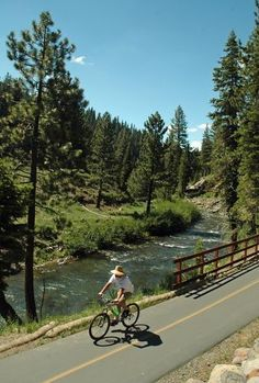 Bike the Truckee River - bike path from Tahoe City to Truckee, CA.