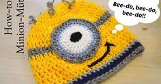 Das brauchst du: dicke Wolle (Nadelstärke 5) in gelb, schwarz,   hellblau, dunkelblau und g...