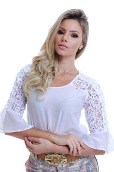 Blusa Renda Branca Via Tolentino