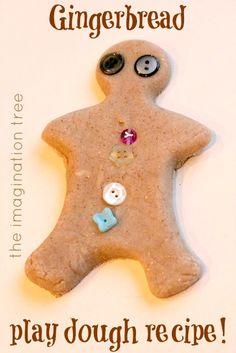 Gingerbread Play Dough Recipe - The Imagination Tree