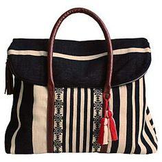 Santa, please!  mercado global stripe brocade weekender bag from RedEnvelope.com