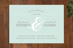 Centerpiece Rehearsal Dinner Invitations by Kimberly FitzSimons at minted.com