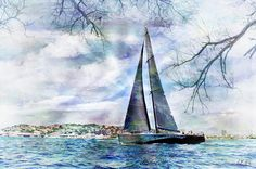 Sailing Boat Titan,seaside,cottage, Photograph by Jean Francois Gil