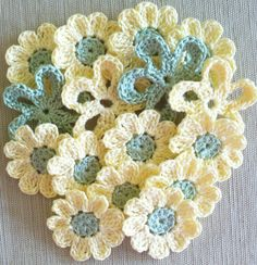 flower embellishments  #crochet flowers #Afs 7/5/13