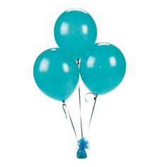 """$4.50 qty/24. 11"""" Latex Turquoise Balloons. OrientalTrading.com"""