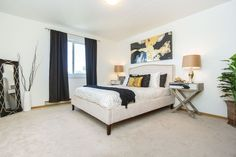 A perfect staged bedroom... created by Maximum Impact Plus