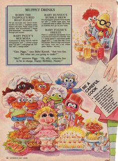 """""""Cookin' with the Muppet Babies"""", scans from Woman's Day magazine, January 8th…"""