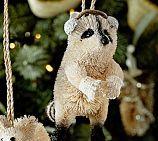 Bottlebrush Raccoon Ornament