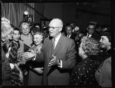 President Eisenhower with San Francisco's Republican Women. 1958