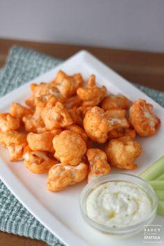 Buffalo Cauliflower Bites #cauliflower #buffalocauliflower