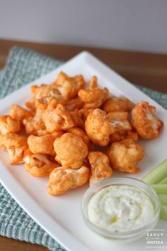 Buffalo cauliflower! Ingredients: 1 head of cauliflower ,1 1/2 cup flour 1 1/2 cup water, 4 tbsp of hot sauce salt and pepper. mix n cover cauliflower then bake for 15 mins. toss w/ buffalo sauce. yes!