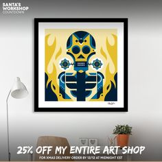 Discover «Burning skeleton», Limited Edition Fine Art Print by Oscar Odd Diodoro - From 27€ - Curioos