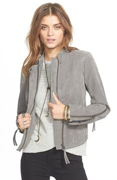 Free People Vegan Leather Jacket available at #Nordstrom
