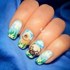 """#nail #nails #ногти #маникюр #manicure #лакдляногтей #nailpolish #nailsgram #instanails #nailswatch #nailart #запискисумасшедшеголакоманьяка #pug #pugs"" Photo taken by @zarina_sh.nail.art on Instagram, pinned via the InstaPin iOS App! http://www.instapinapp.com (03/20/2015)"