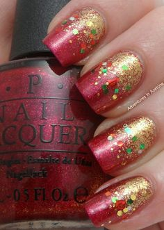 #Christmas #nails #manicure #nailart #naildesign #nailpolish