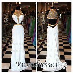 #promdress01 prom dresses - sexy white chiffon open back mermaid senior prom dress, cute ball gown for teens, grad dress.