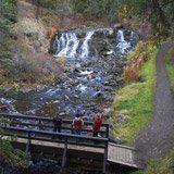 Bridge Creek Falls, Downtown 100 Mile House,  BC, Canada