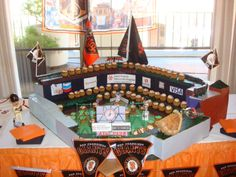 Saint Francis Memorial Hospital's Cupcake Wars SF Giants Themed Display