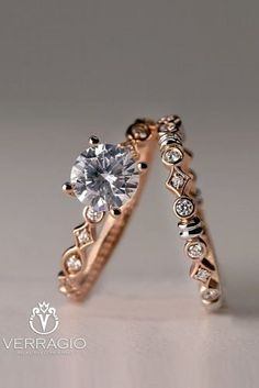 45 Great Bands And Wedding Rings For Women That Admire ❤ wedding rings for women rose gold engagement rings unique engagement rings verragio Verragio Engagement Rings, Popular Engagement Rings, Designer Engagement Rings, Rose Gold Engagement Ring, Engagement Ring Settings, Diamond Wedding Bands, Verragio Rings, Diamond Rings, Solitaire Engagement