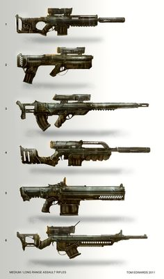 Assault Rifles by TomEdwardsConcepts.deviantart.com on @deviantART