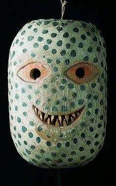 Guru mask. Batak people, Sumatra. Oceana. Those sharp teeth are little slivers of bamboo. The Museum fur Voelkerkunde in Vienna,