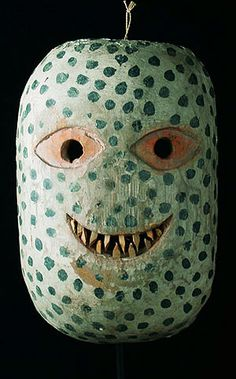 Guru mask. Batak people, Sumatra. Oceana. Those sharp teeth are little slivers of bamboo. The Museum fur Voelkerkunde in Vienna,