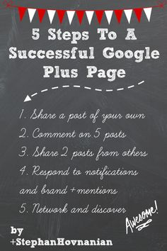 5 steps to a successful Google+ page