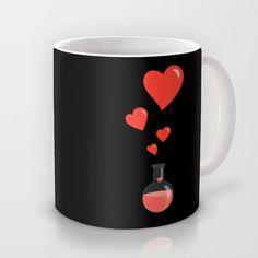 Flask of Hearts Mug by Boriana Giormova - $15.00 #mug #society6