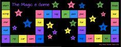 Magic e game from my fave Stephanie at www.boymamateachermama.com